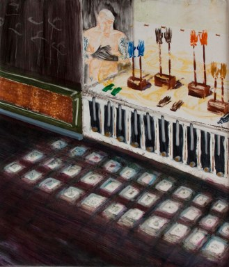 Gloves Shop - oil on Canvas, 50X40, 2014